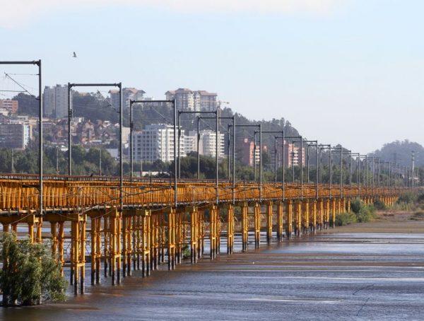 Concepción 12/03/19 Puente ferroviario. Foto: Eduardo Fortes/ El Sur.